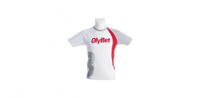 T-paita painatus Olybet logolla