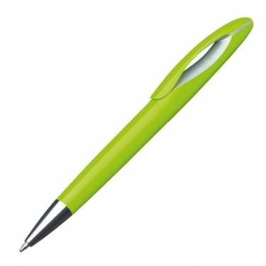 Logo trade mainostuote kuva: Plastic ball pen Fairfield  color light green