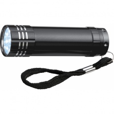 9 LED metal torch 'Montargis'  color black