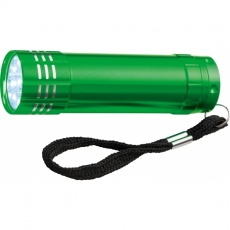 9 LED metal torch 'Montargis'  color green