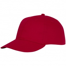 Ares 6 panel cap red
