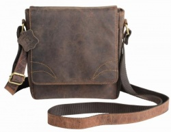 : Genuine leather bag WILDERNESS LV, brown