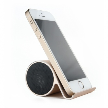 Логотрейд pекламные cувениры картинка: Bluetooth Speaker with phone holder  color black
