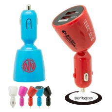 Car Charger 360°  color white