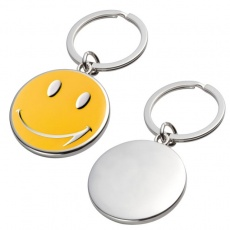 Key ring 'Smile'  color yellow