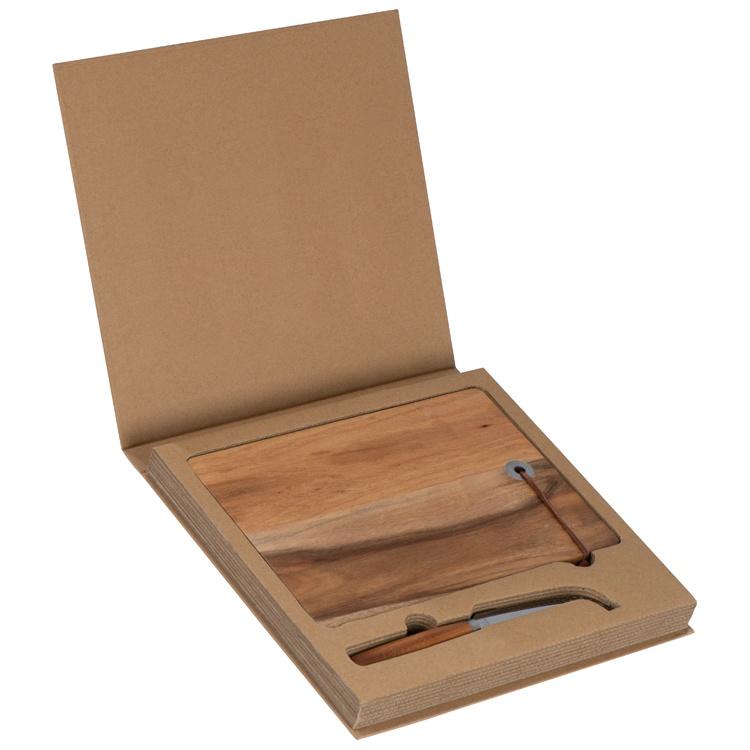 новогодних подарков - Доска и нож для сыра с логотипом