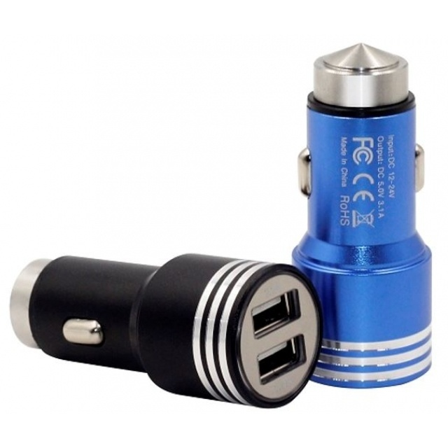 : Aluminium Car Charger  multi color