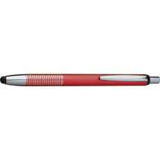 Ball pen with touch pen DIJON  color red