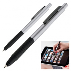 Ball pen with touch pen  color grey