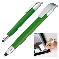 Ball pen with touch pen 'Davos'  color green