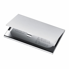 Metal business card holder 'Cornwall'  color grey