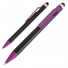 Ball pen with touch pen FLORIDA  color purple